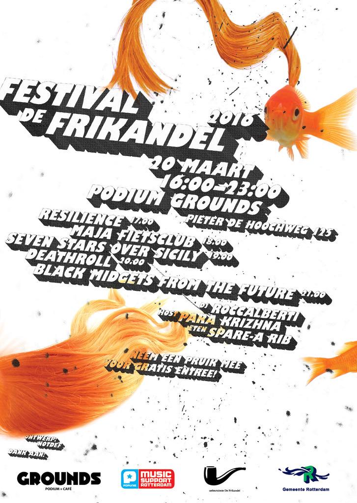Festival de Frikandel 2016 lente flyer